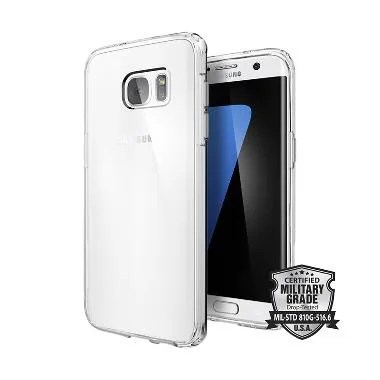 Spigen Ultra Hybrid Casing for Samsung Galaxy S7 Edge - Crystal Clear