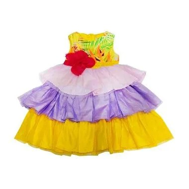 Wonderland Tutu Rainbow Dress Anak - Kuning
