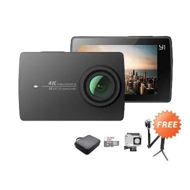 Xiaomi Yi 2 4K - Action Cam - Black ... + 3 Way + Hardcase Medium
