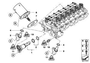 Original Parts for E90 323i N52N Sedan  Engine Cylinder Head Electr Add On Parts  eStore