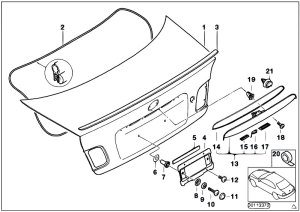 Original Parts for E46 330i M54 Sedan  Bodywork Single Components For Trunk Lid  eStore