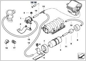 Original Parts for E53 X5 44i M62 SAV  Engine Air Pump