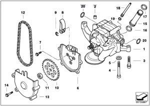 Original Parts for E39 M5 S62 Sedan  Engine Lubrication