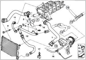 Original Parts for E39 520d M47 Sedan  Engine Cooling