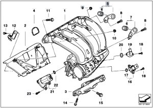 Original Parts for E46 318ti N42 Compact  Engine Intake