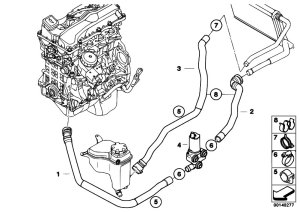 Original Parts for E90 318i N46 Sedan  Heater And Air Conditioning Additional Water Pump Water