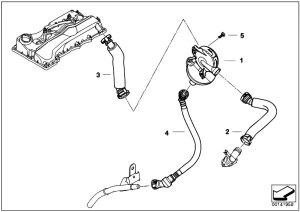 Original Parts for E91 318i N46 Touring  Engine Crankcase Ventilation Oil Separator  eStore