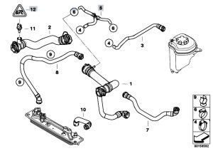 Original Parts for E70 X5 48i N62N SAV  Radiator