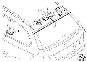 Original Parts for E91 323i N52N Touring  Audio Navigation Electronic Systems Single Parts F