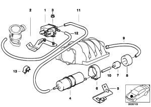Original Parts for E39 540i M62 Touring  Engine Air Pump