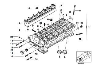 Original Parts for E34 525ix M50 Touring  Engine