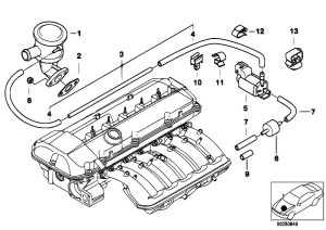 Original Parts for E46 320i M52 Sedan  Engine Air Pump F