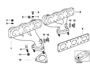 Original Parts for E39 528i M52 Sedan  Engine Exhaust