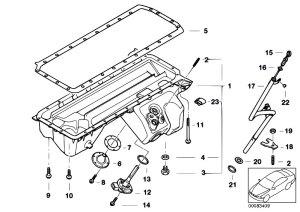 Original Parts for E46 M3 S54 Coupe  Engine Oil Pan Oil