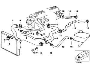Original Parts for E39 525td M51 Sedan  Engine Cooling