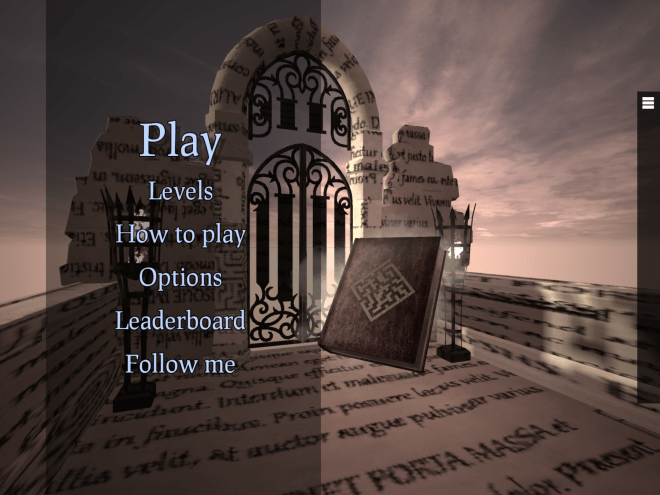 Screen shot of The Book Of Mazes load screen