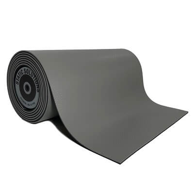 ESD mat mats and rolls in grey gray