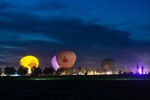 Hot air balloons and tents Image courtesy of franky242 at FreeDigitalPhotos.net
