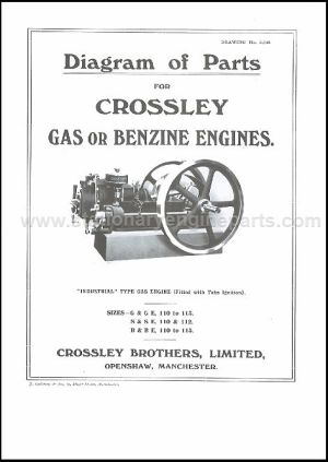 Diagram Of Parts For Crossley Gas Or Benzine Engines