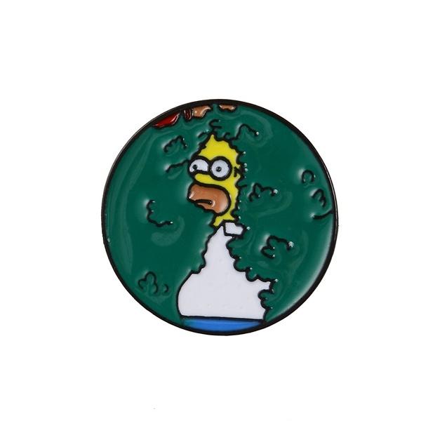 Homer Simpson Bush Meme Enamel Pin Stationary N Stationery