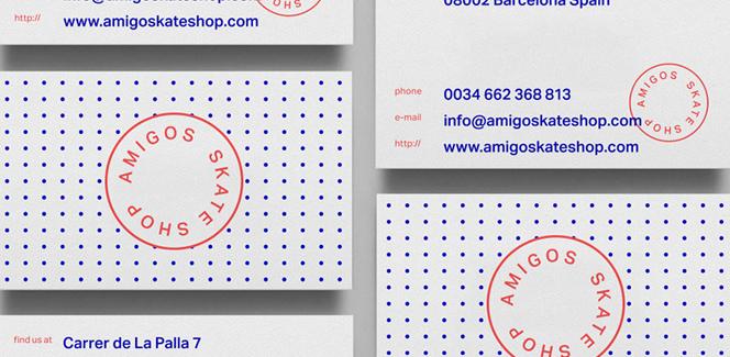amigos skate shop branding