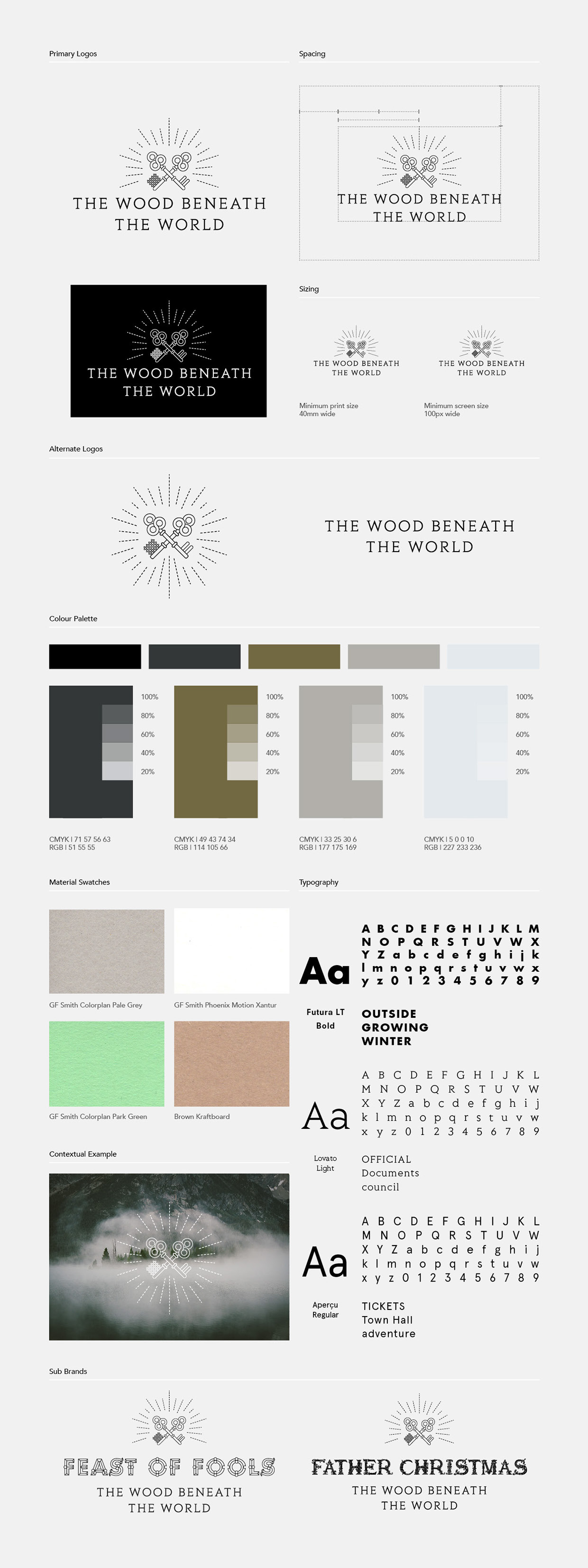 The Wood Beneath The World branding