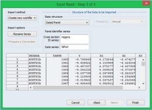 Cara Setting Data Panel Pada EViews