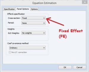 Fixed Effect Regresi Data Panel dengan Eviews