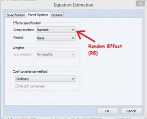 Random Effect Regresi Data Panel dengan Eviews