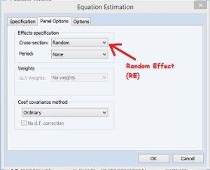 Random Effect Regresi Data Panel dengan Eviews