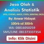 Jasa Analisis Statistik Anwar Hidayat