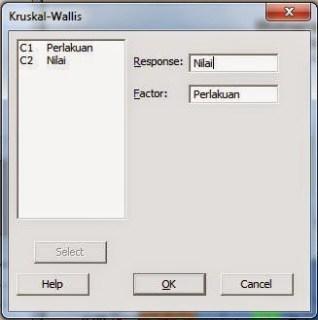 Kruskall Wallis dengan Minitab
