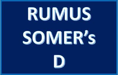 Rumus Somer's D