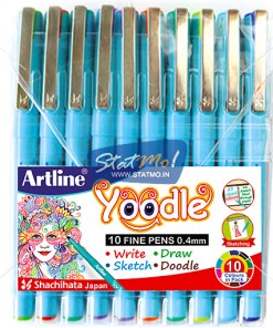 Artline Yoodle Fine Pens Assorted Colours by StatMo.in