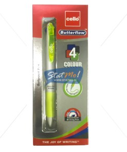 Cello Butterflow 4 Colour Ball Pen by StatMo.in
