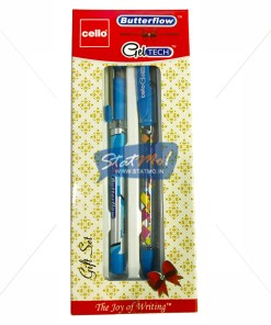 Cello Butterflow and Gel Tech Pen Gift Set by StatMo.in