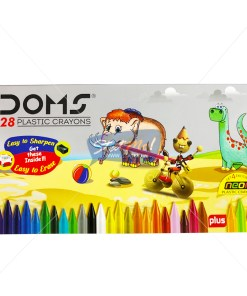 Doms Plastic Crayons 28 Shades by StatMo.in