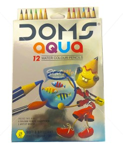 Doms Aqua Water Colour Pencils12 Shades by StatMo.in