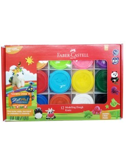 Faber Castell Modelling Dough knete 12 Shades by StatMo.in