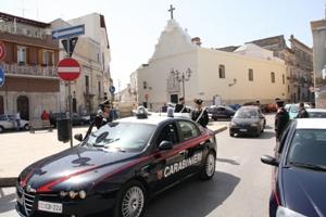 Controlli carabinieri Andria (immagine d'archivio)