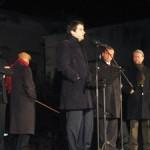 Raffaele Fitto sul palco di Piazza del Popolo(Mf)