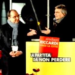 Il candidato sindaco cs A.Riccardi e Nichi Vendola (da Uff.stampa Riccardi)