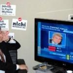 Il rieletto Governatore pugliese, Nichi Vendola, guarda i risultati (FN)