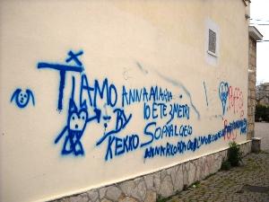 vandalismo alla chiesa Sant'Andrea (immagine M.P.Telera)