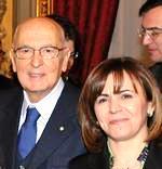Colomba Mongiello con il presidente Napolitano