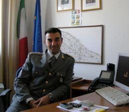 Il maggiore della Compagnia della Guardia di Finanza di Monopoli, Ciro Rutigliano (www.faxsettimanale)