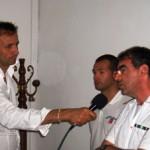 Il Capitano di Fregata, Comandante della Capitaneria di Porto Antonino Zanghì intervistato stamane in conferenza stampa (image Stato)