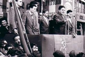 Un comizio del sindacalista Giuseppe Di Vittorio (image pinobalestrieri)