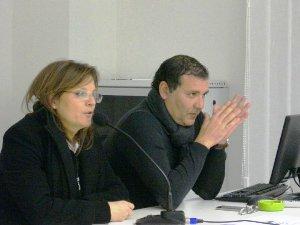 Maria Di Foggia, con il segretario Pd P.Campo (St)