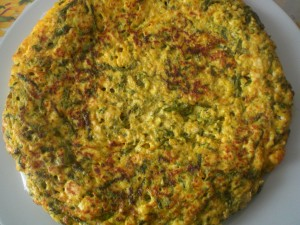 Frittata con uova e asparagi selvatici